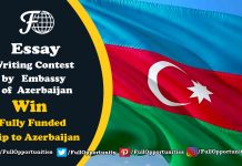 Essay Writing Contest by Embassy of Azerbaijan - Win a trip to Azerbaijan