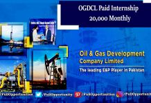 OGDCL Internship 2019 - Monthly Stipend of 20,000 PKR