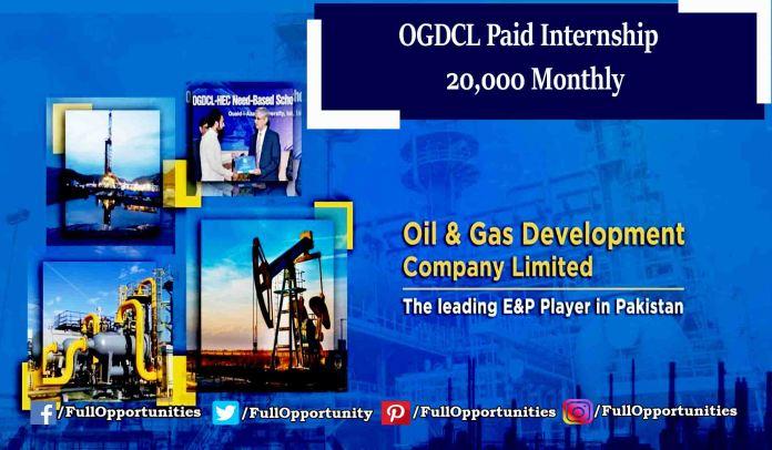 OGDCL Internship 2019 - Monthly Stipend of 20,000 PKR