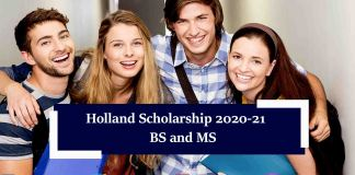Holland Scholarship 2020-21 For BS and MS