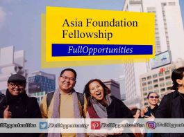 Asia Foundation Development Fellowship