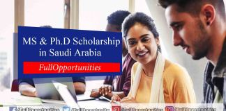 KFUPM Scholarship for MS and Ph.D. in Saudi Arabia