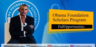 Obama Foundation Scholars