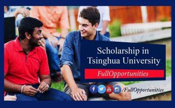 SCS Scholarship Tsinghua University China 2020 (Fully Funded)