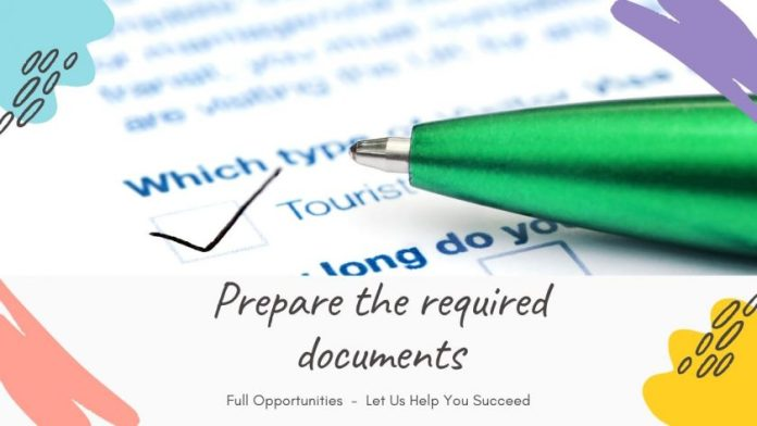 prepare the required documents