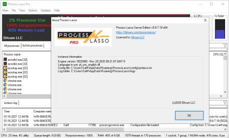 Process Lasso 9.8.7.18 Crack