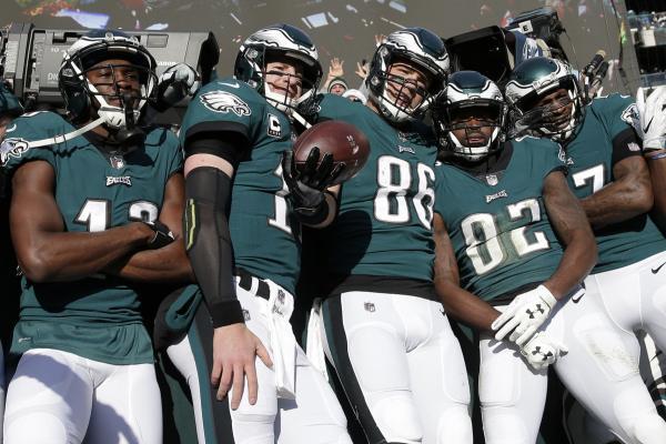 Eagles pose