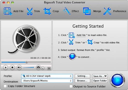 Bigasoft Total Video Converter Crack + Serial Key Free Download