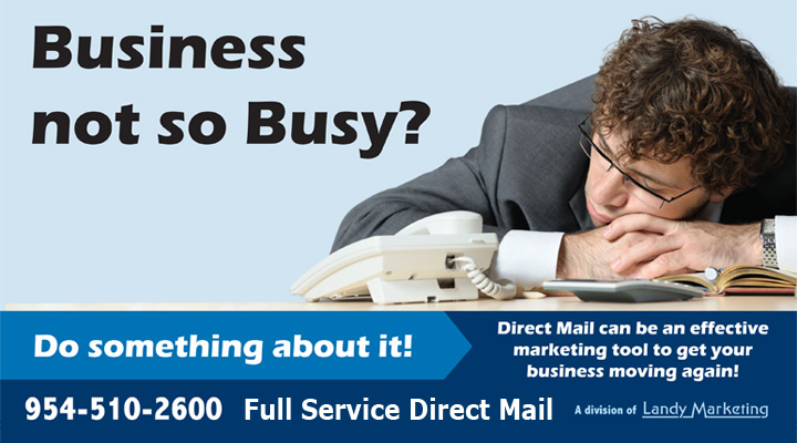 Direct Mail can be an effective marketing tool