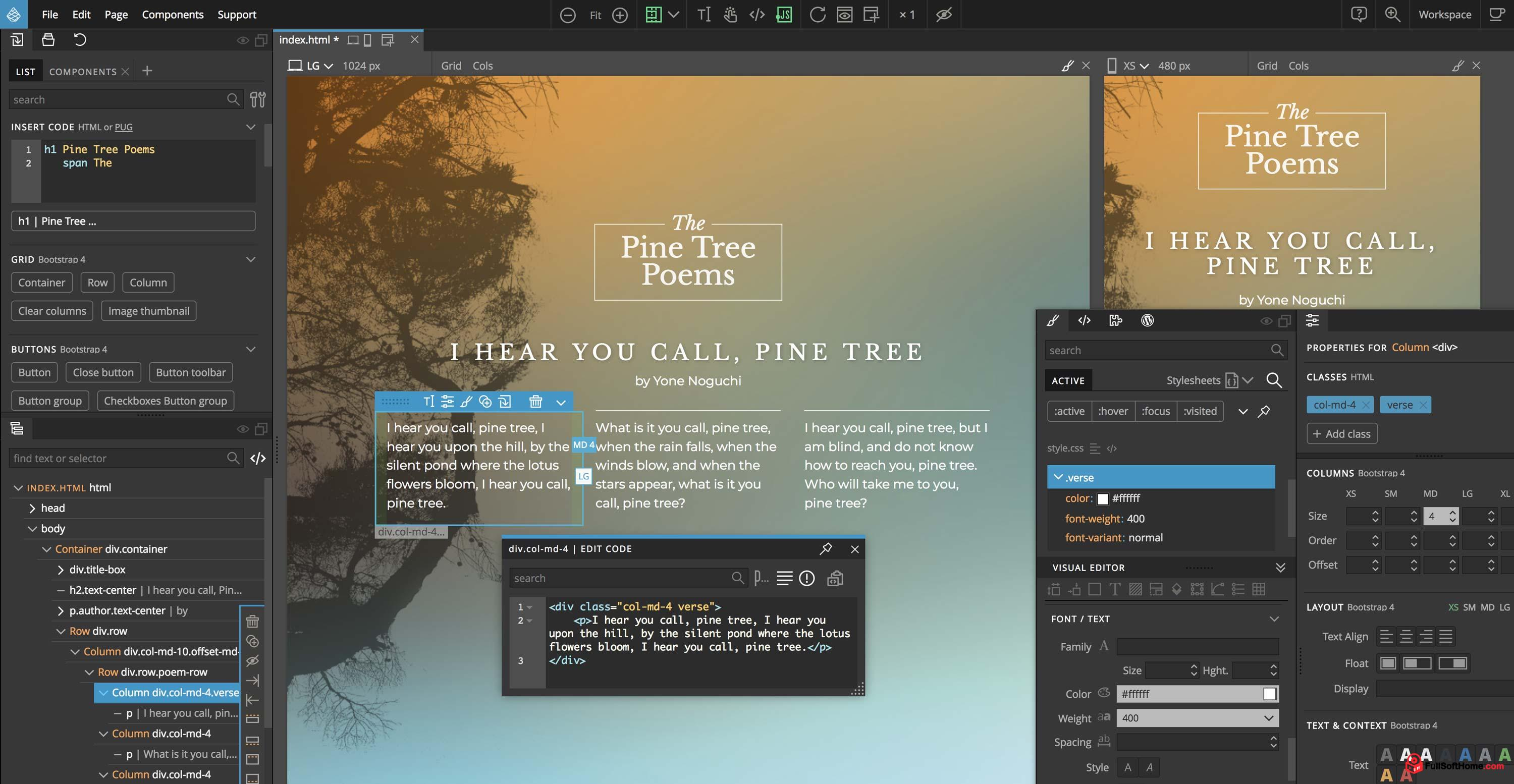 Pinegrow Web Editor [v5.3] Full (Windows+Mac+Linux) – Build modern websites faster and easier