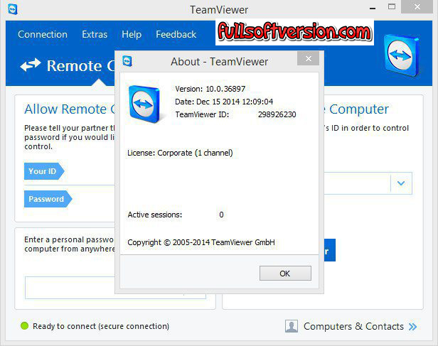 TeamViewer 12 Beta license key screenshot