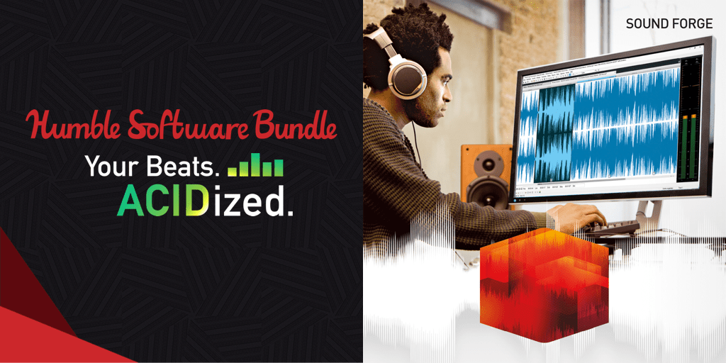 Name your own price for ACID Pro 7, SOUND FORGE Audio Studio 12, Music Maker EDM Edition, and more to create and produce your own music!