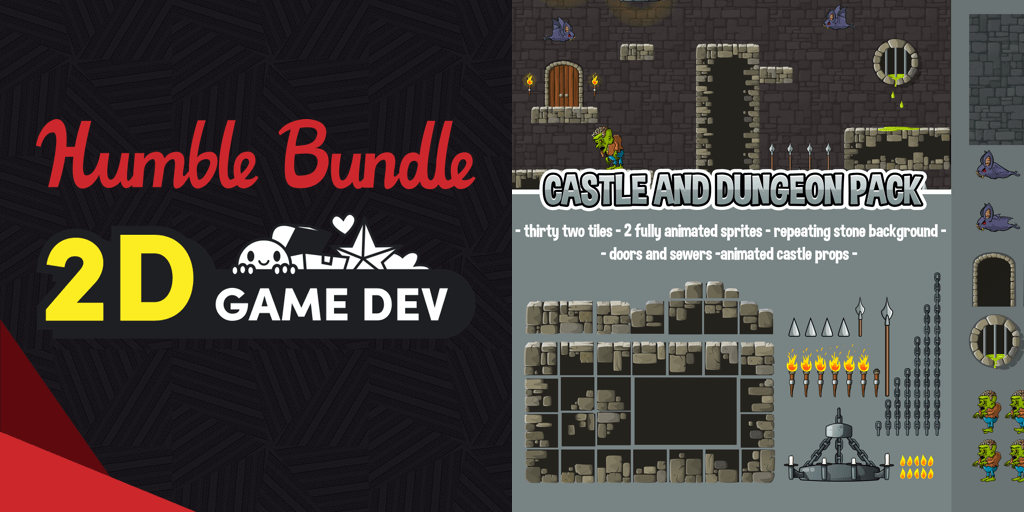 Pay what you want for a collection of great 2D art assets in The Humble 2D Game Dev Bundle!