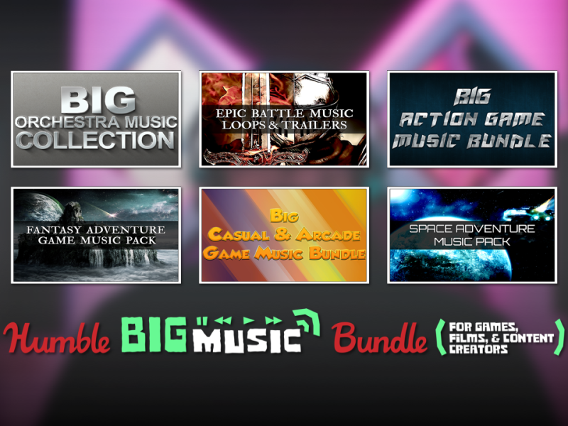 Just $1 for the Humble Big Music Bundle for Games, Films, and Content Creators