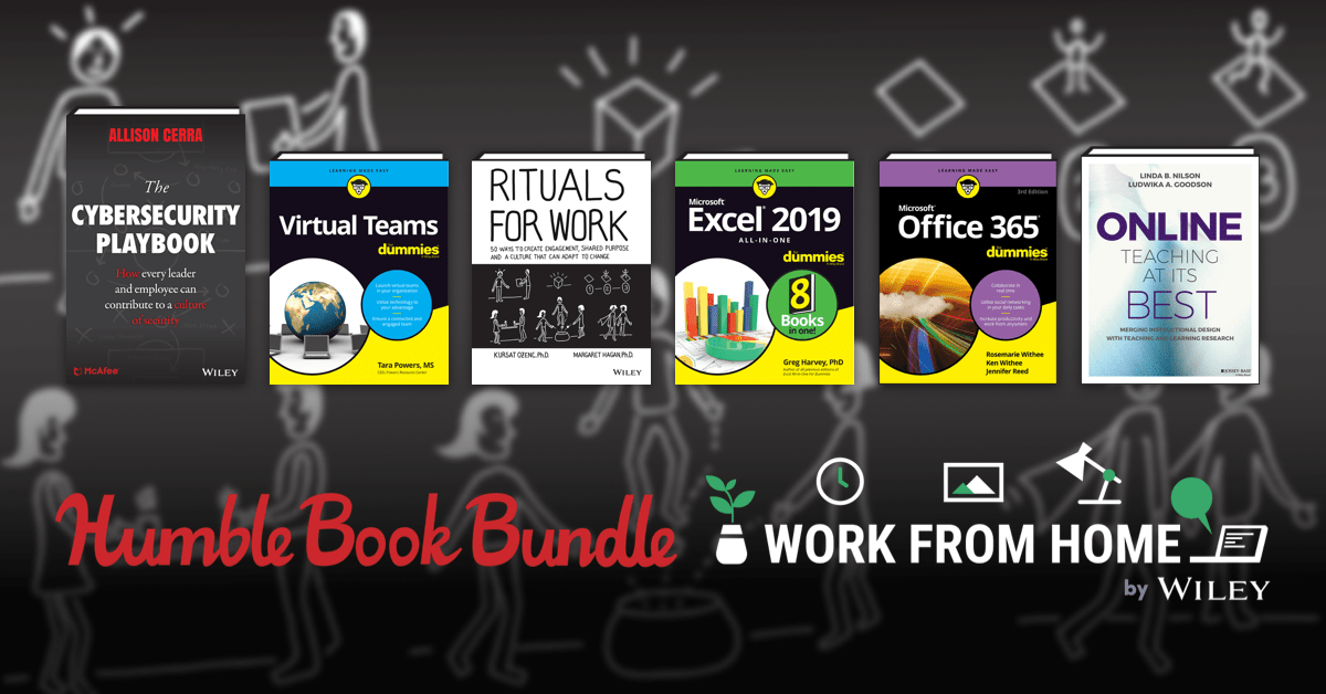 Just $1 - Office 365, Virtual Teams, lifehacker, and more in the Humble Book Bundle: Work From Home by Wiley!