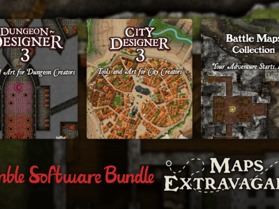 Only $1 - Campaign Cartographer 3+ Lifetime License, City Designer 3, Dungeon Designer 3, and more in the MAPS Extravaganza Software Bundle