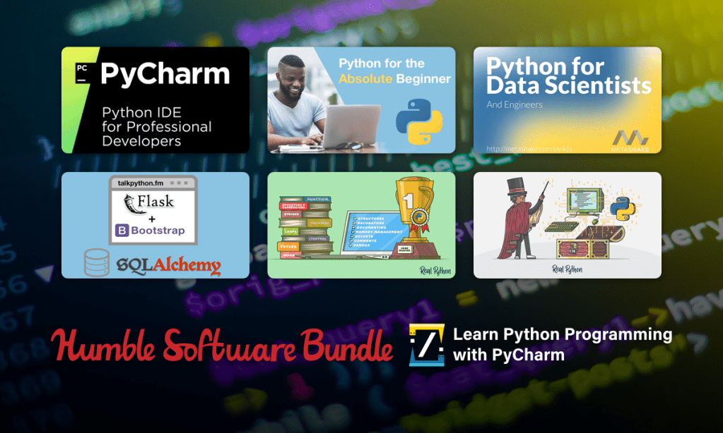 Learn Python Programming with PyCharm Software Bundle for just $1!