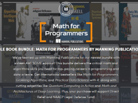 Name your price for ebooks like Math for Programmers, Grokking Bitcoin, and Succeeding with AI, supporting Direct Relief and the NAACP Legal Defense Fund!
