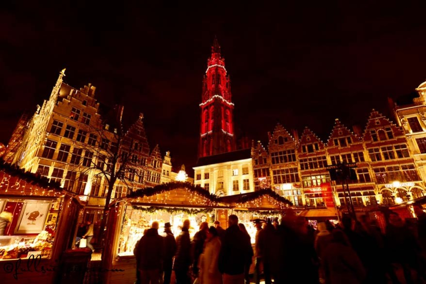 Christmas Market on the Grote Markt in Antwerp