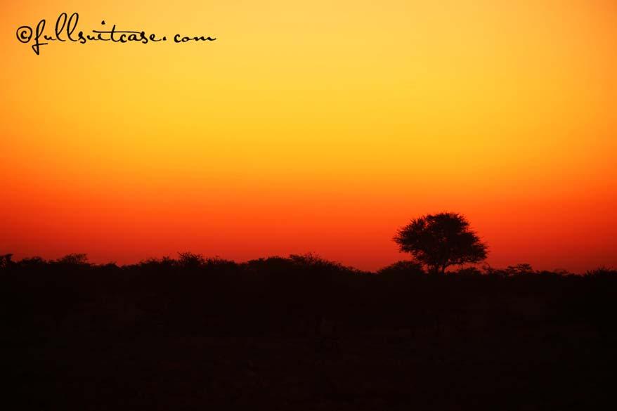 Namibian sundowner African sunset