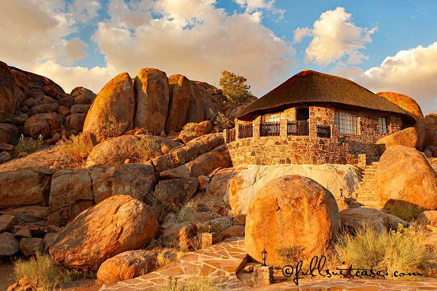 Lodge in Namibia - accommodation is of very high standard