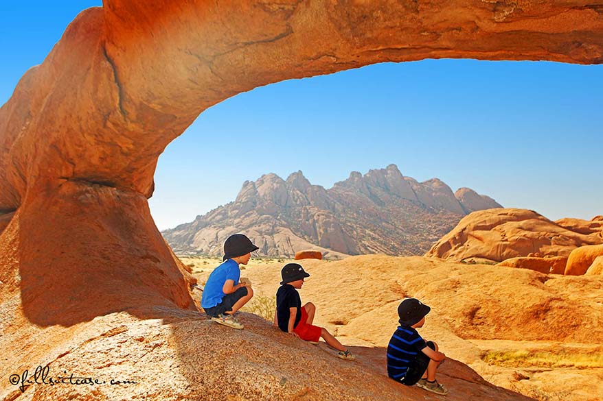 Family travel Namibia with young kids - Spitzkoppe
