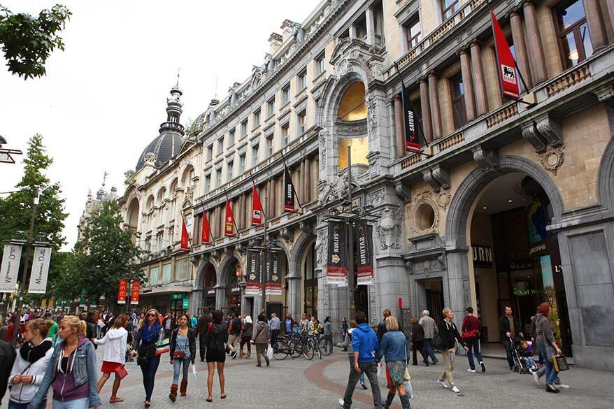 The Meir - the main shopping street of Antwerp
