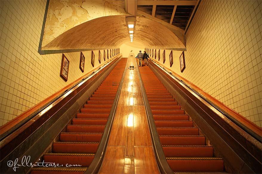Sint Anna Tunnel Antwerp Belgium