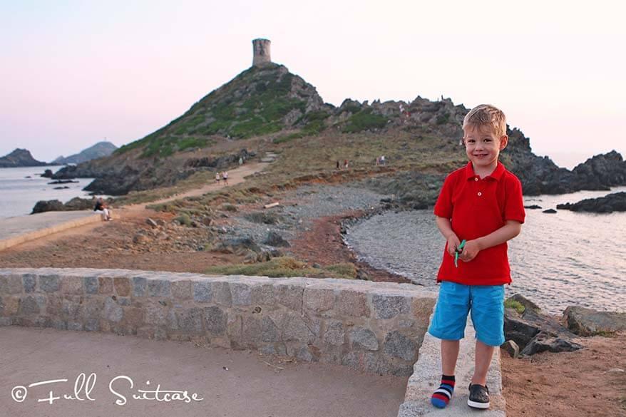 les Iles Sanguinaires with kids