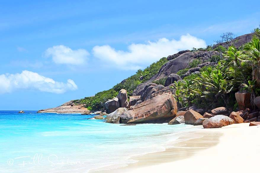 Grande Soeur island beach in the Seychelles