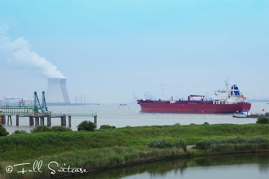 Port of Antwerp as seen from Fort Liefkenshoek
