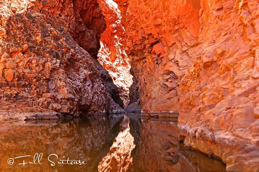 Redbank Gorge West MacDonnell ranges Australia