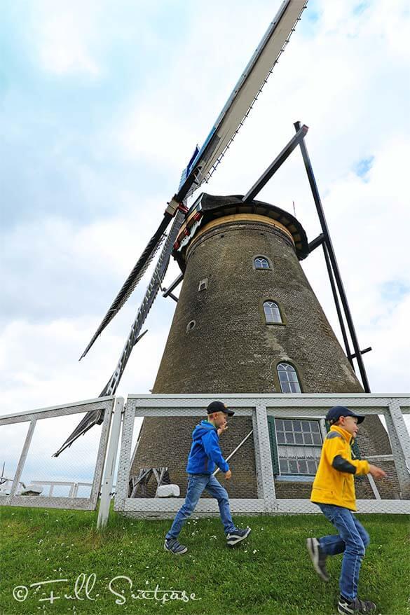 Visit Kinderdijk windmills with kids