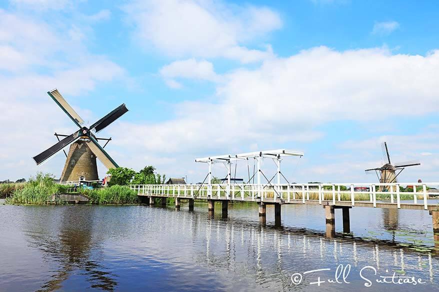 Nederwaard windmill in Kinderdijk