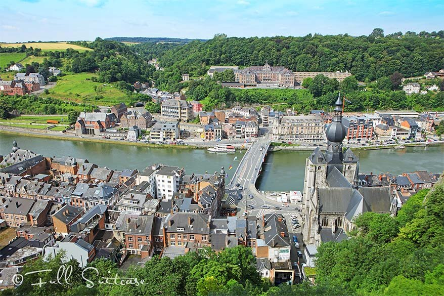 Dinant areal view from the Citadel