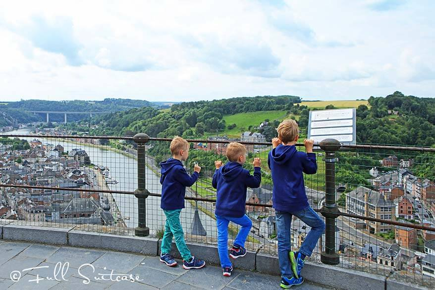 Visiting Dinant with kids