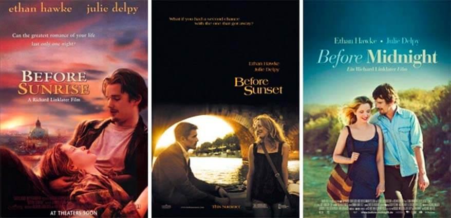 Movie series Before Sunrise, Before Sunset, Before Midnight