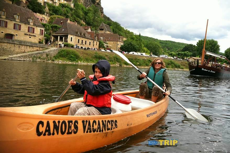 Canoe ride in Dordogne France
