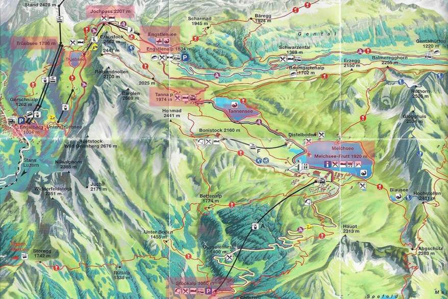 Four Lakes Hike map