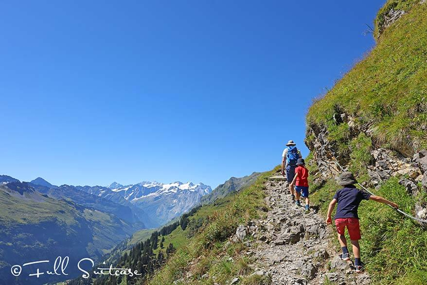 Hiking to Tannensee Lake from Engstlenalp in Switzerland