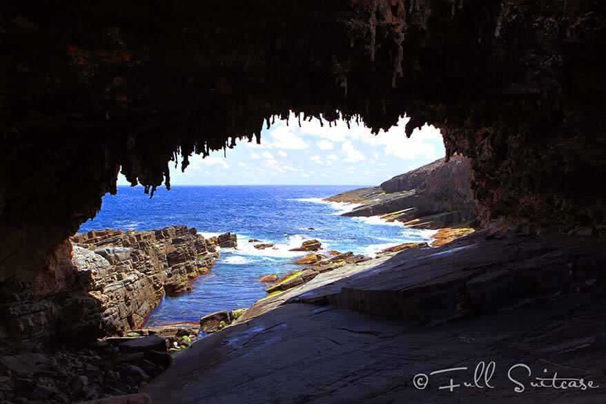 Admirals Arch on Kangaroo Island Australia