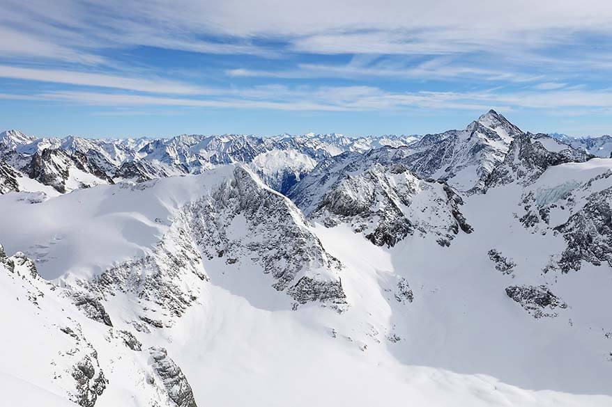 View from Mount Titlis in Engelberg Switzerland