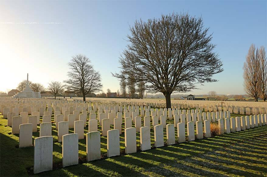 Day trip to Ypres and the World War I Battlefields in Belgium - Tyne Cot