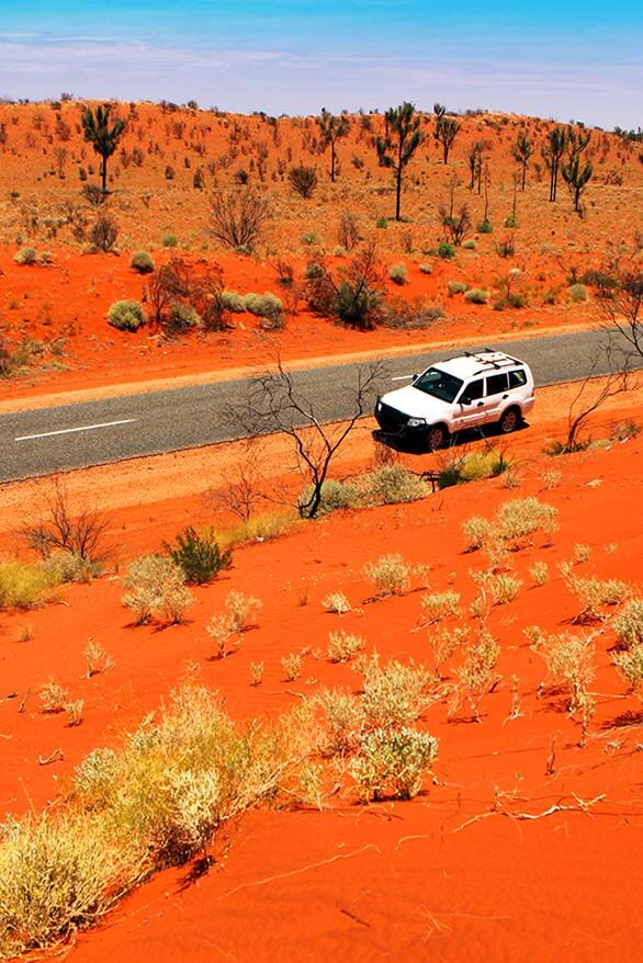 Driving in Australia's Red Centre