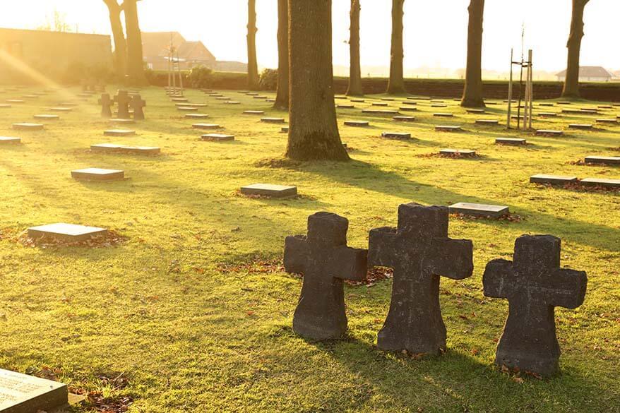 Langemark German war cemetery near Ypres Belgium