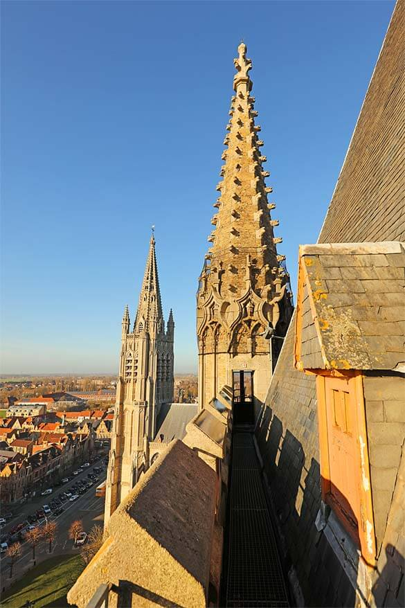 On top of the Bell Tower in Ypres Belgium