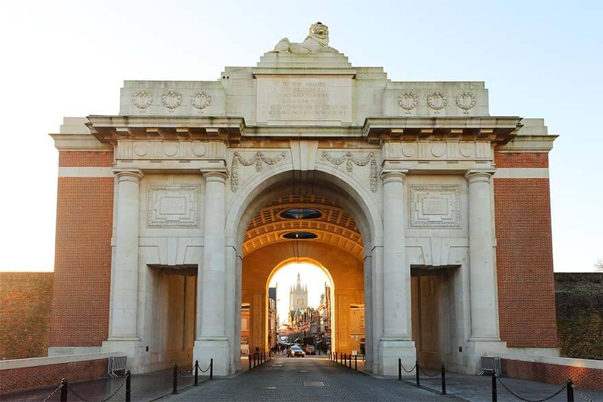 The Menin Gate Ypres Belgium