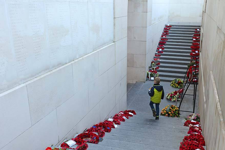 Visiting the Menin Gate in Ypres with kids