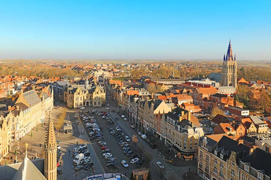 Ypres aerial view from the Bell Tower