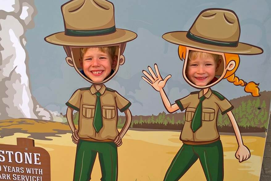 Junior Rangers in Yellowstone